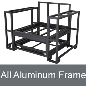 Slim Outdoor Furniture uses all Aluminum Frames