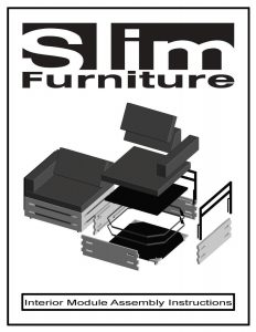 SLIM Furniture Indoor Assemble Instructions